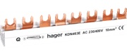 Hager KDN463E 3-fasen kamrail 3P+N (8 modulen)