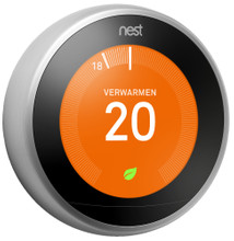 Nest Learning Thermostaat V3 (RVS)