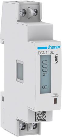 Hager ECN140D kWh-meter 1 fase 40A (Nieuw)