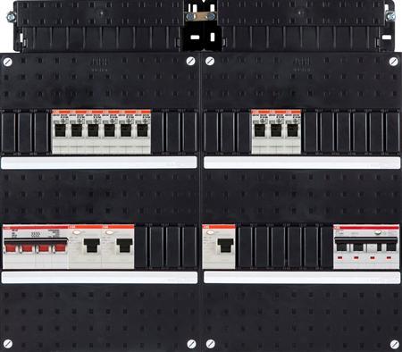 ABB groepenkast 9 groepen + 3 fase aardlekautomaat