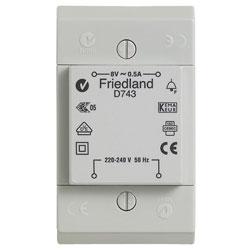 Friedland beltransformator 8 volt, 0,5A