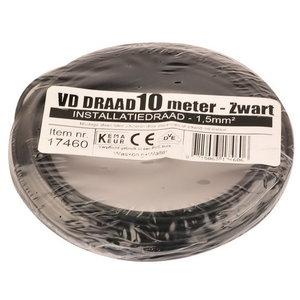 VD installatiedraad 1.5mm zwart