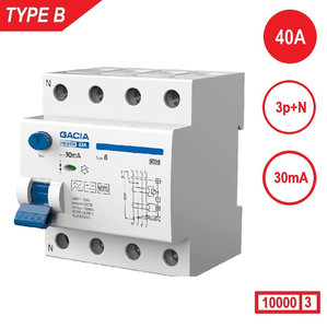 GACIA aardlekschakelaar Type B 3P+N
