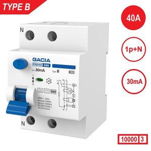 GACIA aardlekschakelaar Type B 1P+N