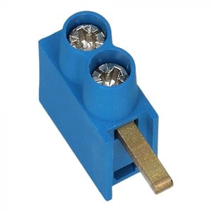 SEP aftakblok blauw 2x10mm hoog