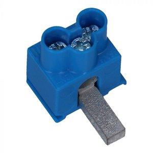 Aftakblok 3x16mm blauw