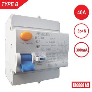 Aardlekschakelaar Type B 300mA 3P+N